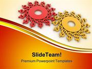Gears Dollar Money PowerPoint Templates And PowerPoint Backgrounds ppt