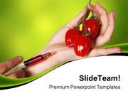Genetic Experimented Vegetables Science PowerPoint Templates And Power
