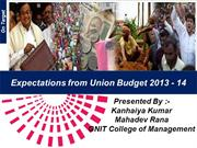 Expectation from Union Budget 2013-14