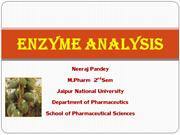 Enzyme analysis ppt