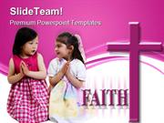 Girls Praying Faith Religion PowerPoint Templates And PowerPoint Backg
