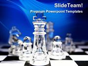 Glass Chess Game PowerPoint Templates And PowerPoint Backgrounds ppt t
