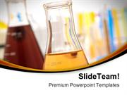 Glass Equipment In Lab Science PowerPoint Templates And PowerPoint Bac