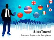 Global Business Communication PowerPoint Templates And PowerPoint Back