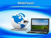 Global Communication Computer PowerPoint Templates And PowerPoint Back
