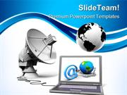 Global Communication Internet PowerPoint Templates And PowerPoint Back