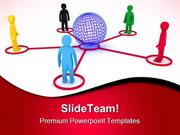 Global Connection Communication PowerPoint Themes And PowerPoint Slide
