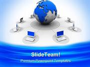 Global Connections Computer PowerPoint Templates And PowerPoint Backgr