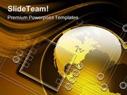 Global Electronics Technology PowerPoint Templates And PowerPoint Back