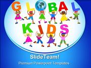 Global Kids Globe PowerPoint Templates And PowerPoint Backgrounds ppt
