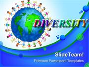 Global Kids Diversity Children PowerPoint Templates And PowerPoint Bac