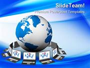Global Network Internet PowerPoint Templates And PowerPoint Background