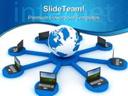 Global Networking Computer PowerPoint Templates And PowerPoint Backgro
