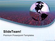 Global Technology Globe PowerPoint Templates And PowerPoint Background