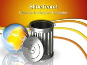 Global Trash Environment PowerPoint Templates And PowerPoint Backgroun
