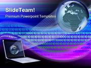Globe And Binary Background Computer PowerPoint Themes And PowerPoint