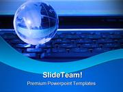 Globe On Keyboard Internet PowerPoint Templates And PowerPoint Backgro