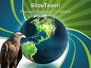 Globe With Eagle Animals PowerPoint Templates And PowerPoint Backgroun