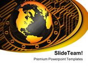 Globe Protrude Technology PowerPoint Templates And PowerPoint Backgrou