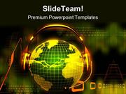 Globe With Head Phone Music PowerPoint Templates And PowerPoint Backgr