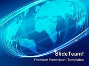 Glowing Optical Fibers Earth PowerPoint Templates And PowerPoint Backg