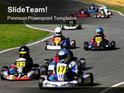 Go Kart Race Sports PowerPoint Templates And PowerPoint Backgrounds pp