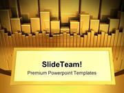 Gold Charts With Copy Space Marketing PowerPoint Templates And PowerPo