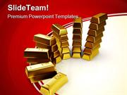 Gold Bars Finance PowerPoint Templates And PowerPoint Backgrounds ppt