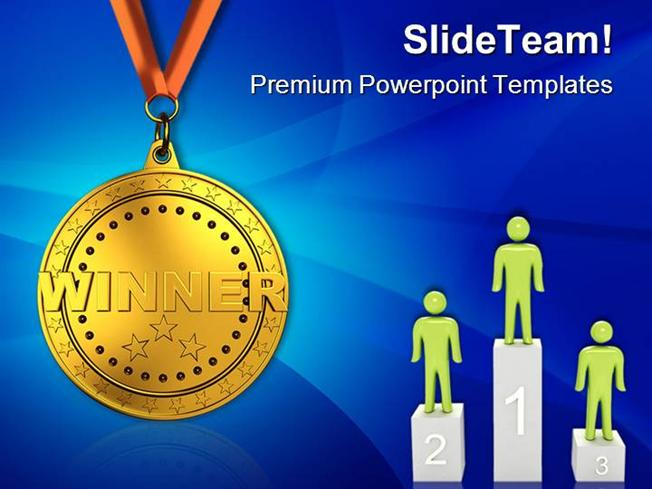 Gold Medal Sports Powerpoint Templates And Powerpoint Backgrounds