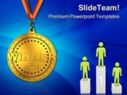 Gold Medal Sports PowerPoint Templates And PowerPoint Backgrounds ppt