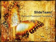 Golden Butterfly Abstract PowerPoint Themes And PowerPoint Slides ppt