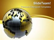 Golden Globe Background PowerPoint Templates And PowerPoint Background