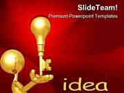 Golden Key Idea Business PowerPoint Templates And PowerPoint Backgroun