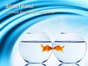 Goldfish And Aquarium Animals PowerPoint Templates And PowerPoint Back
