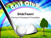 Golf Club Sports PowerPoint Templates And PowerPoint Backgrounds 0211