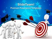 Graduation Target Education PowerPoint Templates And PowerPoint Backgr