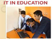 ROLE OF IT IN EDUCATION