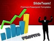 Graph Showing Profits Business PowerPoint Themes And PowerPoint Slides