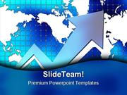 Graph With World Map Business PowerPoint Themes And PowerPoint Slides