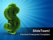 Grass Dollar Sign Future PowerPoint Templates And PowerPoint Backgroun