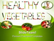 Green And Fresh Vegetables Health PowerPoint Templates And PowerPoint