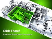 Green Apartment Architecture PowerPoint Templates And PowerPoint Backg