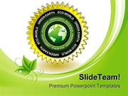 Green Earth Eco Icon Environment PowerPoint Templates And PowerPoint B