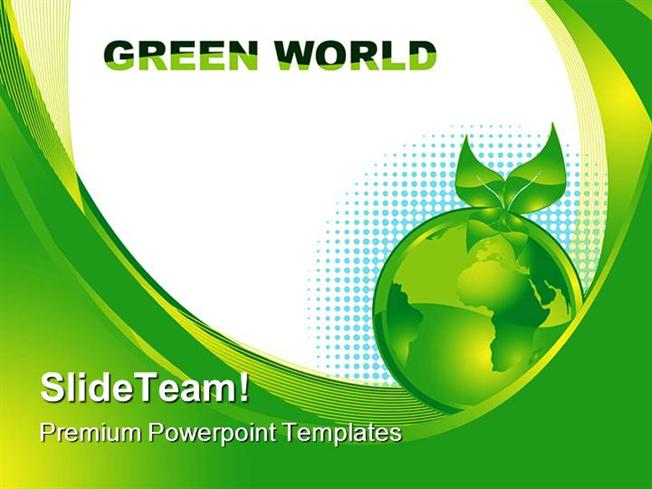 green earth concept environment powerpoint templates and powerpoin, Modern powerpoint