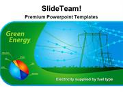 Green Energy Plant Technology PowerPoint Templates And PowerPoint Back