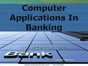 Role Of Computer Application In banking Sector
