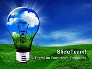 Green Energy Solutions Nature PowerPoint Templates And PowerPoint Back