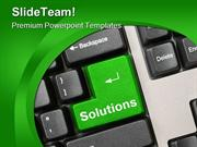 Green Solutions Key Computer PowerPoint Templates And PowerPoint Backg