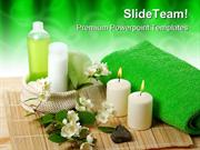 Green Spa Beauty PowerPoint Templates And PowerPoint Backgrounds ppt t
