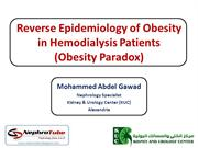 Reverse Epidemiology of Obesity in Hemodialysis Patients